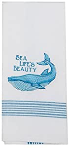 Kay dee designs f0735 sea life 39 s beauty whale embroidered tea towel home kitchen Kay dee designs kitchen towels