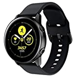 Beauty&favor Watch Band Compatible with Samsung Galaxy Watch Soft Silicone Sports Band Strap Wriststrap (Black)