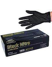 Black Nitrile Nitro Powder Free Disposable Gloves