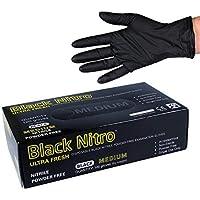 Black Nitrile Nitro Powder Free Disposable Gloves 2XL Box Of 100