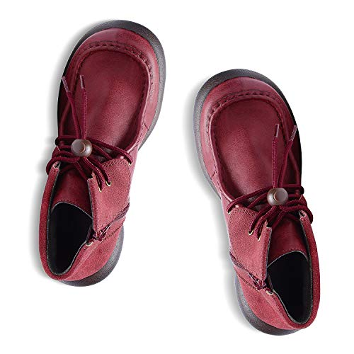 RegettaCanoe Shoes for Women Sarasota Handmade Vegan Women's Shoes - Ankle Boots with Laces, with Wide Soles and Orthotic Support, Made with Function and ()