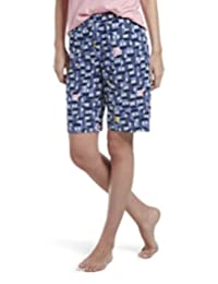 Hue Womens Printed Knit Bermuda Pajama Sleep Short
