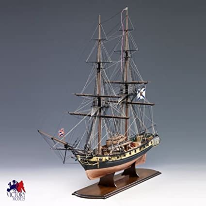 Amazon Com Mercury Russian Brig Wooden Model Ship Kit By