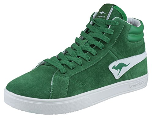 KangaROOS Wilton 7255A - Zapatillas de deporte de cuero para hombre Verde (Grün (huntersgreen 890))