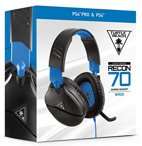 41XQCq9GhHL - Turtle Beach Recon 70 Gaming Headset for PlayStation 4 Pro, PlayStation 4, Xbox One, Nintendo Switch, PC, and mobile - PlayStation 4