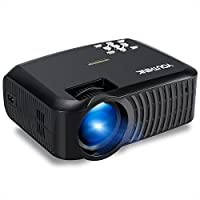 YOUTHINK 2000 Lumens LED Mini Video Projector Support 1080P Portable for PC Laptop iPhone Smartphone, Ideal for Home Cinema Theater,Full HD Game and Outdoor Movie Night with Free HDMI Cable (Black)