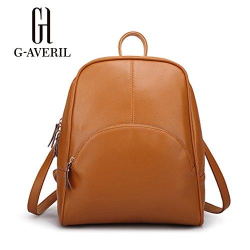 G-AVERIL GA1059-C - Bolso mochila  para mujer negro blanco marrón