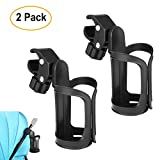 BundlePro Pack of 2 Stroller Drink Holders | Universal Cup Holder for Bikes, Trolleys or Walkers