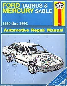 Ford taurus and mercury sable 1986 thru 1992 automotive repair flip to back flip to front fandeluxe Choice Image