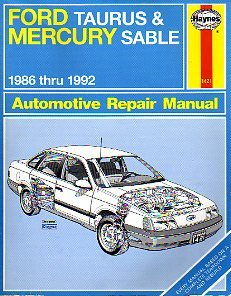 ford taurus and mercury sable 1986 thru 1992 automotive repair rh amazon com 2006 Ford Taurus Tan 2014 Ford Taurus
