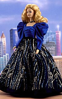 Blue Rhapsody Porcelain Barbie - Limited Edition - RARE Barbie Limited Edition Porcelain