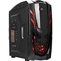 Microtel Computer AM8073 Liquid Cooling PC Gaming Computer with Intel 4.2GHz I7 7700K, 16GB DDR4, M.2 500GB SSD, 1TB SSHD, Blu-Ray, Nvidia Geforce 1080 GTX 8GB GDDR5, 800W 80 Plus PS, WiFi