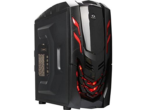 Microtel Computer AM8101 Liquid Cooling Gaming PC with Intel i7 7700k 4.2Ghz, 16GB DDR4, 3TB 7200RPM, Blu Ray Drive, Nvidia Geforce 1060 GTX 6GB GDDR5, 800Watt PS, WiFi (Red)
