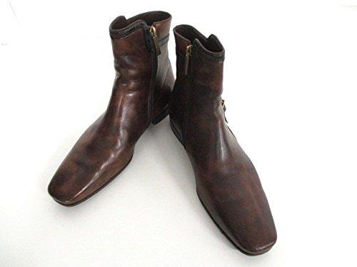 (ルイヴィトン) LOUIS VUITTON ブーツ ショートブーツ メンズ ブラウン×黒 【中古】 B07FXDR2RJ  -