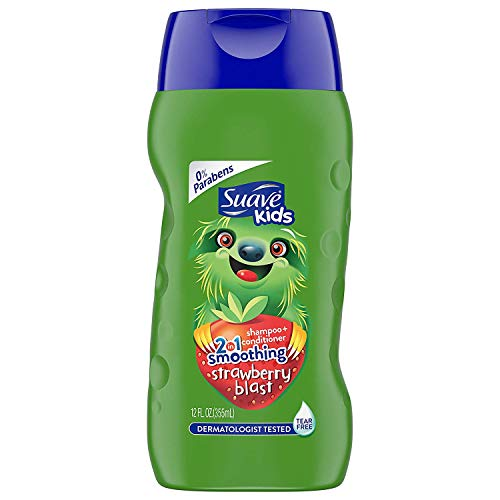 Suave Kids 2 in 1 Shampoo and Conditioner, Strawberry Smoothers, 12 oz ()