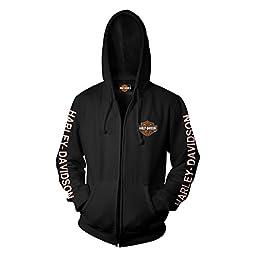 Harley-Davidson B&S Zip Hooded Sweatshirt - Military Skull Text 2X