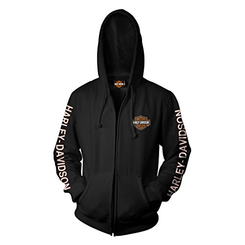Harley Davidson Zip Hooded Sweatshirt Military