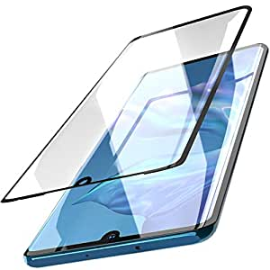 TOZO for Huawei P30 Pro Screen Protector Glass [ 3D Full Frame ] Premium Tempered 9H Hardness Super Easy Apply for Huawei P30 Pro Work with Most case (Black Edge)