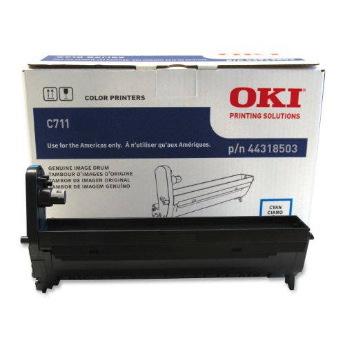 Oki Data 44318503 Image Drum for C711 Series Printers, 20000 Page Yield, Cyan ()