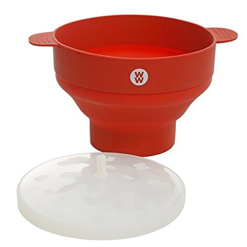 - Weight Watchers 116916.01 Elmsley 9.5 x 6 Inch Silicone Microwave Pop Corn Bowl, Crimson