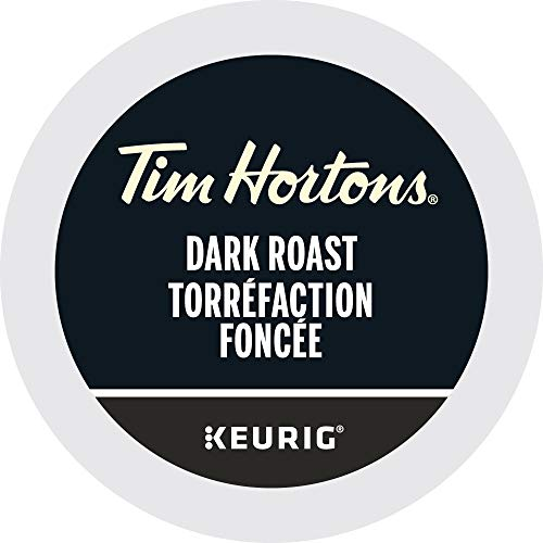 Tim Hortons K-cup Dark Roast Coffee 30 Count - Imported from Canada