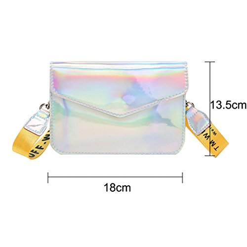 Cross Mini Women Bag body Satchel 1643 Bag Editha Drawstring Bag Sling Holographic Silver Glitter B0qftw