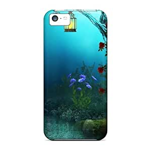 Wade-cases CxW581MkiG Protective Case For Iphone 5C Cover(strange Forest)