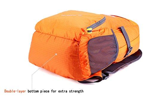 dc6e3af07f2 Venture Pal Ultralight Lightweight Packable Foldable Travel Camping Hiking  Outdoor Sports Backpack Daypack (Orange)