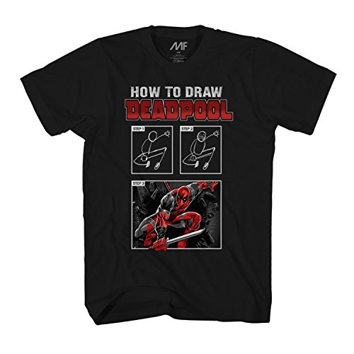 Marvel Deadpool How To Draw Mens T-Shirt