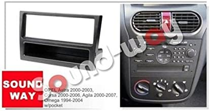 Opel Corsa C Zafira B auto radio diafragma instalación marco 1-din antracita