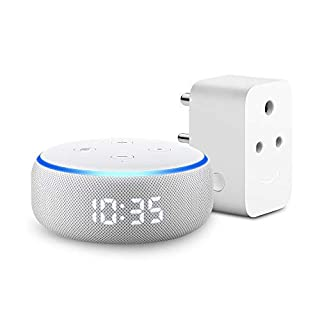 Echo Dot with Clock (3rd Gen) with Amazon Smart Plug