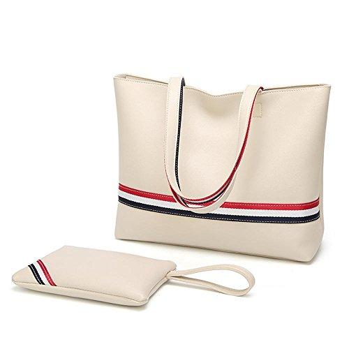 manera tamaño bolso Penao Bolso la de de la señora White mujer 34cmx12cmx28cm wawzrItqx