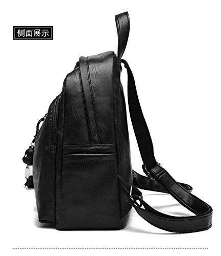 Black Women Bag fashionShoulde New 2 Rucksack Medium fnRqZwxW46