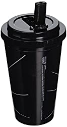 Silver Buffalo MC3284 Marvel Spiderman Swings BPA-Free Plastic Flip Straw Cold Cup, 16 oz., Black