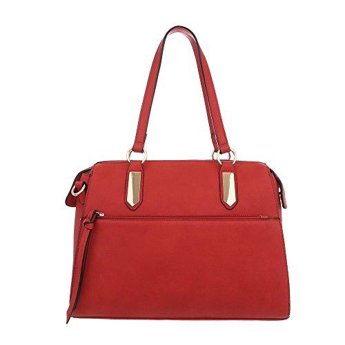 Design Ital Bolso mujer Sintético hombro al Rojo para de zxdaqTxw