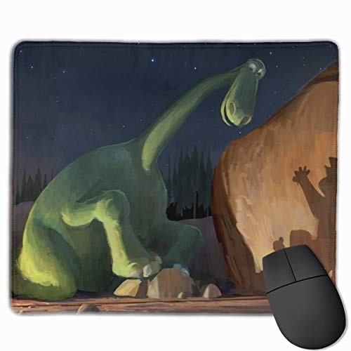 3M Precise Mouse Pad Enhances The Precision of Optical Mice at Fast Speeds and Extends The Battery Life of Wireless Mice Up to 50%, 25x30 cm Dinosaur Stones Night
