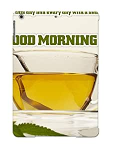 4ec99762591 Faddish Tea Motivational Drink Godd Morning Case Cover For Ipad Air With Design For Christmas Day's Gift