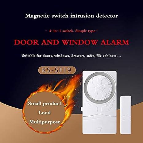 Alarma de Sensor de Contacto de Ventana de Puerta inal/ámbrica ShangSky Alarma de Puerta Alarma de Seguridad s/úper Fuerte de 110 dB para ni/ños Seguridad Inicio Tienda Seguridad