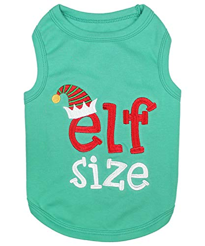 - Parisian Pet Funny Christmas Holiday Dog Cat Pet Shirts Tee Tanks - Naughty or Nice, Santa Outfit, Elf Size, Santa's Helper, Sorry Santa I Ate Your Cookies (Elf Size, XL)
