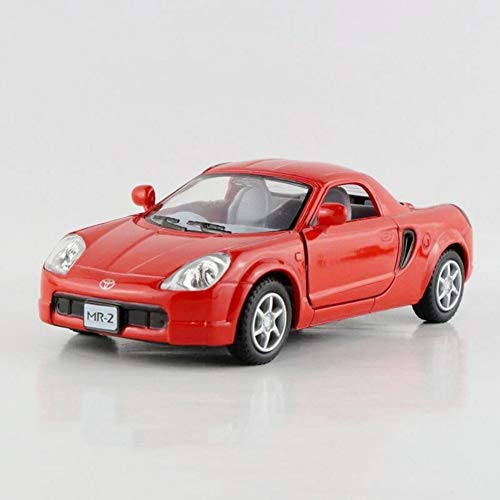 modelcars 1:32 Scale Toys Toyota MR2 Model Cars Open Two Doors Collection Red New Alloy Diecast