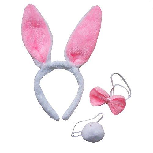 Kirei Sui Kids Rabbit Bunny Headband Tie Tail 3pcs -