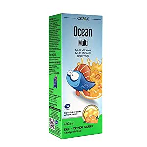 Ocean Multi Omega 3 Şurup (Multi Vitamin, Zinc, Fish Oil) 150 Ml