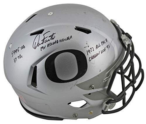 """Dan Fouts""""5x Inscribed"""" Signed Game Used 2016-18 Proline F/S Helmet BAS #P81201 -  PRESS PASS COLLECTIBLES"""