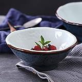 RXY-BOWL Ceramic High Bowl Home Stone Pattern Soup Bowl Fruit Bowl Salad Bowl Snack Bowl (Size : 16X16X6.5CM)