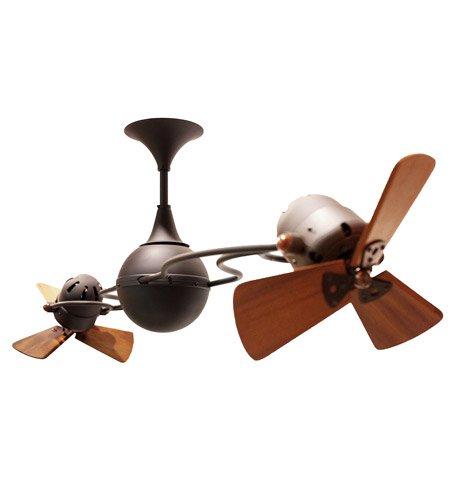(Matthews Fan Company IV-BZ-WD Italo Ventania Indoor Ceiling Fans in Bronze)