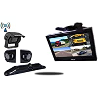 Tadibrothers 10.5 Inch Wireless Ultimate CCD RV Trailer Backup Camera System License Plate and Premium Side Cameras