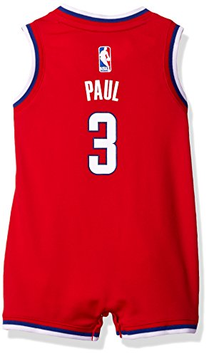 OuterStuff NBA Infant Los Angeles Clippers Paul Replica Road Onesie-Red-24 (Adidas Basketball Onesie)