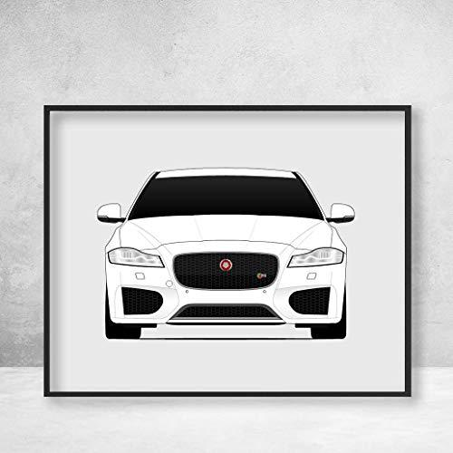 (Jaguar XF Sedan X260 Poster Print Wall Art Decor Handmade)
