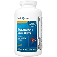 Basic Care Ibuprofen Tablets  500 Count