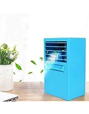 XYSoeMY Aire Acondicionado, Mini Ventilador de Aire Acondicionado, refrigeración portátil, Oficina, Escritorio, hogar, refrigeración, USB-Blue 14.5x10x25cm (6x4x10inch)